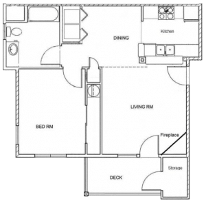 1 Bed / 1 Bath / 767 sq ft / Rent From: $1300